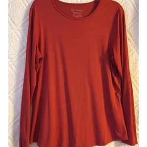 Chico's Rust Colored Long Sleeve Stretchy Top
